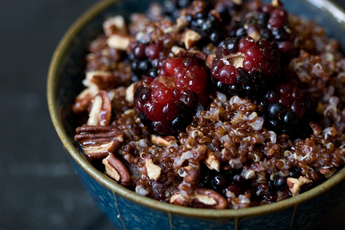 Daily Breakfast Recipe: Warm & Nutty cinnamon Quinoa With a Green And ...